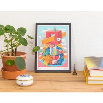 Martin Krusche - Fineartprint »Quadratschädel« DIN A4