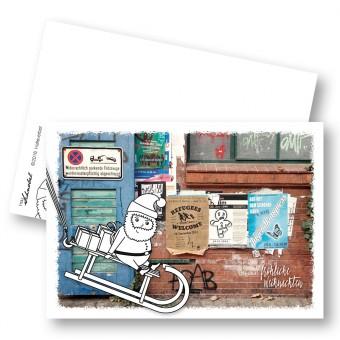 "Frau Schnobel GrafikXMAS Weihnachtspostkarten ""Halteverbot"" // Weihnachtskarte5er Set"