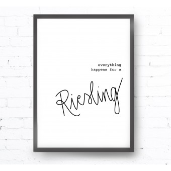 Kruth Design POSTER / RIESLING