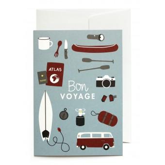 """""""Bon Voyage"""" Klappkarte von Roadtyping"""