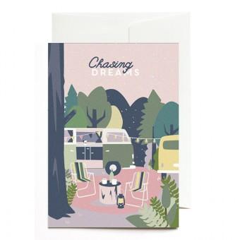 Roadtyping Grußkarte - Chasing Dreams