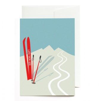 Roadtyping Grußkarte - Der Berg ruft