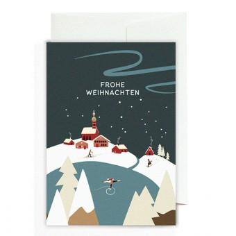 Roadtyping Grußkarte - Frohe Weihnachten Schweden