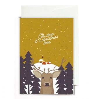 Roadtyping Grußkarte -  Oh deer it´s christmas time
