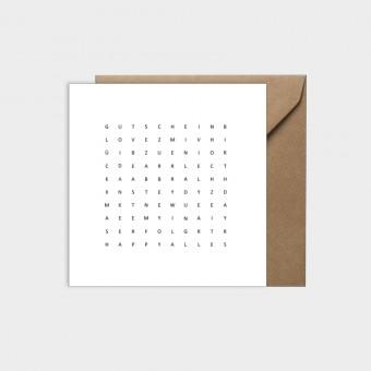 HOOK&EYE Grußkarte 'Universal' 3er-Set