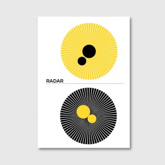 "ZEITLOOPS ""Radar"", Posterprint 40x60 cm"
