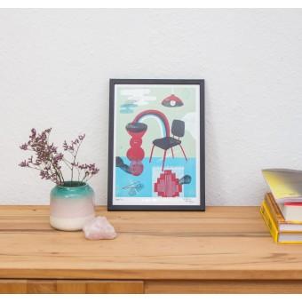 Martin Krusche - Fineartprint »Rainbow Chair« DIN A4