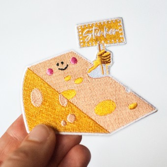 Rapü Design Käse Patch / Käse Aufnäher / Käse Bügelbild Stinker
