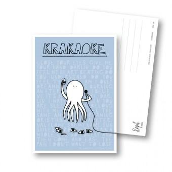 "Rapü Design Postkarten-Set ""Krakaoke"" 3 Stück"
