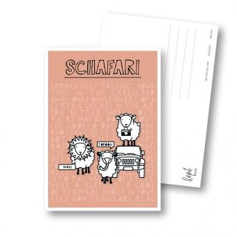 "Rapü Design Postkarten-Set ""Schafari"" 3 Stück"