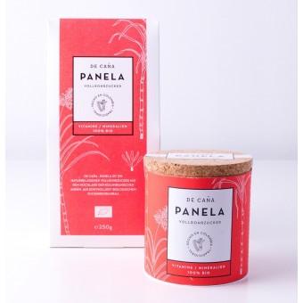 """DE CAÑA Panela aus Kolumbien - Der feine Naturzucker/Kaffeezucker, 125gZuckerdose """"Azucarera""""+ Refillpack, 250g"""