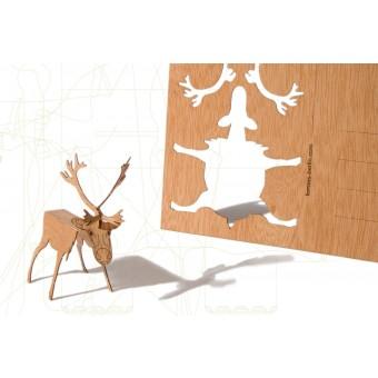 formes Berlin Rentierkarten - 6 Postkarten aus Holz