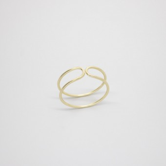 fejn jewelry - Double Ring Gelbgold