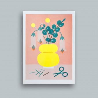 stefanizen – Gelbe Vase – A5 Risoprint, Risodruck