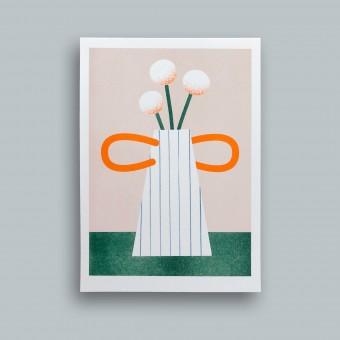 stefanizen – Gestreifte Vase – A5 Risoprint, Risodruck