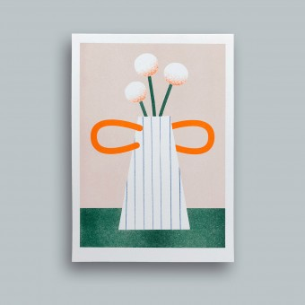 stefanizen Gestreifte Vase — Riso Print A5