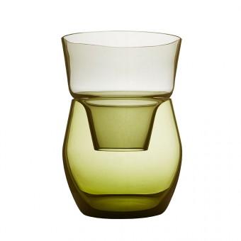 Annika Sparkes Produktdesign Roadie one vase   two pieces   three archetypes (stahlgrau/antikgelb)