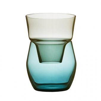 Annika Sparkes Produktdesign Roadie one vase   two pieces   three archetypes (stahlgrau/montanblau)