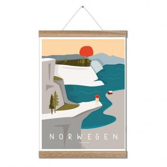 Roadtyping Art Print Norwegen (30x40cm)