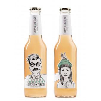 Sechzisch Vierzisch / Weinschorle / Roséwein+Orangenlimonade 0,275ml / 6,4%vol(15er Kiste)