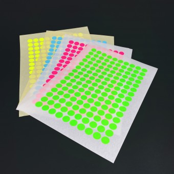 Bob and Uncle Design REMOVABLE PAPER STICKY DOTS / For NOW IS BETTER Calendar / 4 sheets