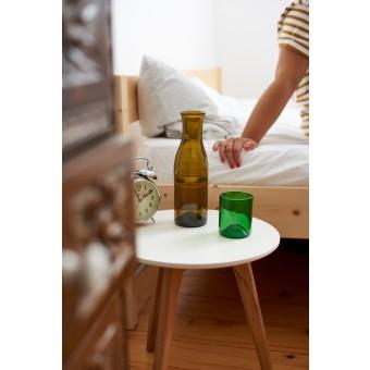 SAMESAME No 08/grün - Upcycling Karaffe aus Burgunderflasche mit Stülpbecher