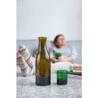 SAMESAME No 09 - Upcycling Karaffe aus Magnum-Weinflasche mit Stülpbecher