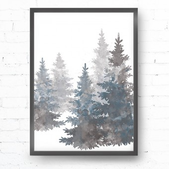Kruth Design POSTER / GREY TREES