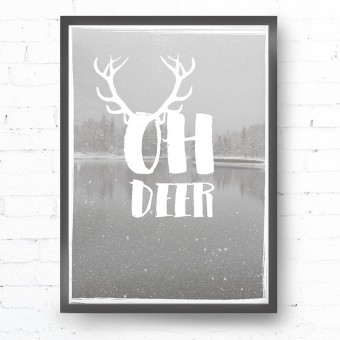 Kruth Design POSTER / OH DEER