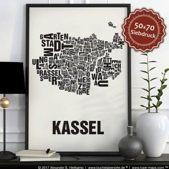 Buchstabenort Kassel Poster Typografie