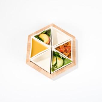 Lena Beigel design - Supertaster Schalensystem für Tapas (6 Porzellanschalen)