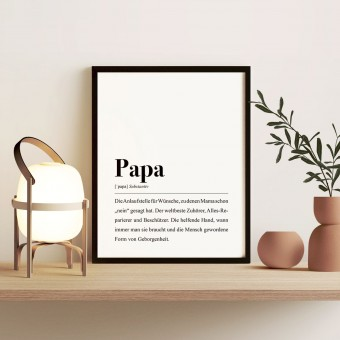 Papa Definition: DIN A4 Poster - Pulse of Art