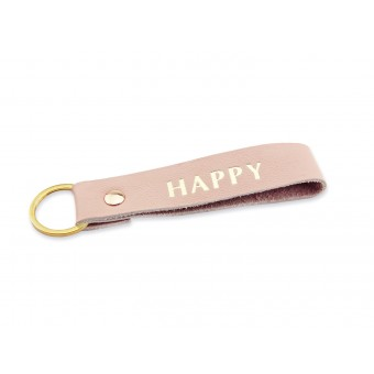 lille mus Schlüsselanhänger HAPPY aus Leder