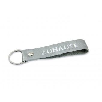 lille mus Schlüsselanhänger ZUHAUSE aus Leder