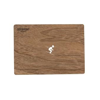 """Seesucht Manufaktur Holzkarte """"Ski"""""""