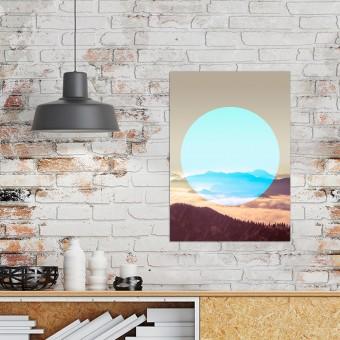 JOE MANIA / Modern Artprint Poster / Circular Landscapes (Alps) DIN A4 - A0