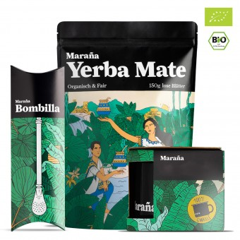 Maraña Bio Yerba Mate Tee Set  ● (Grundpreis: 46,60€/1kg)