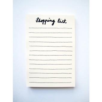 """PETERSEN Schreibblock """"Shopping list"""" (A5, 100 Blatt)"""