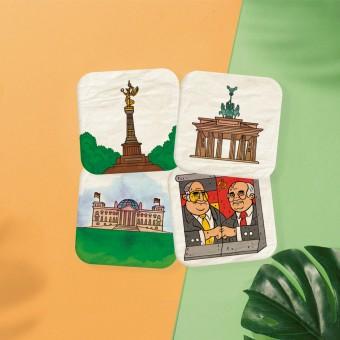 Stadtliebe® | Berlin Bierdeckel Postkarten 4er Set I