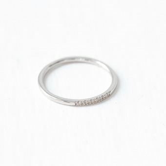 Oh Bracelet Berlin – Stapelring VI aus 925 Sterlingsilber weißvergoldet