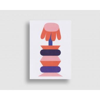stefanizen – Blumenvase Postkarte DIN A6 mit Umschlag