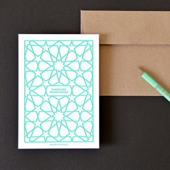 HEIMATFORMAT Sternenhimmel Letterpress mint // Inkl. Naturpapier-Kuvert