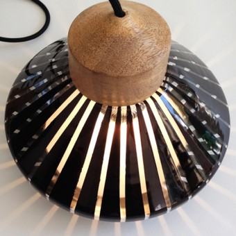 StockhausenDesign Transparent & black REFLEX lamp
