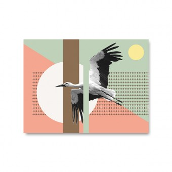 "ZEITLOOPS ""Storch"", Fineartprint, 45x60cm"