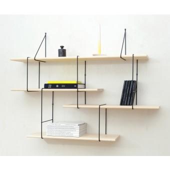 LINK shelving system setup1 ash/black