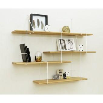 LINK shelving system setup01 oak/white