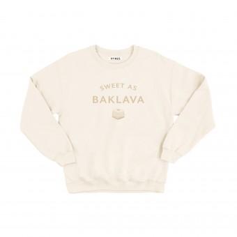 HYRES Unisex Sweater Sweet as Baklava / Natural