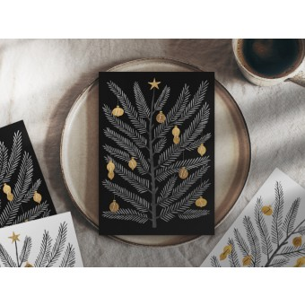 typealive / Weihnachtskarten 4er Set / Swedish Fir