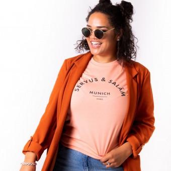 HYRES Unisex T-Shirt Servus & Salam / Rose Clay