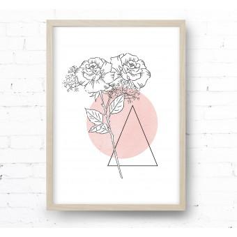 Kruth Design POSTER / TATTOO ROSE BLUSH
